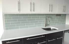 Glass Kitchen Backsplash White Glass Subway Tile Kitchen Backsplash Of Idolza