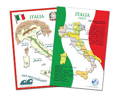 Italy Region Map by Amazon Com Italian Language Poster Set Maps Of Italy
