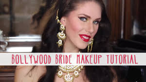 Indian Halloween Makeup Bollywood Bride Makeup Tutorial How To Create A Red U0026 Gold Desi