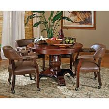 Dining Room Tables Seattle Steve Silver 5 Piece Tournament Dining Game Table Set With Caster