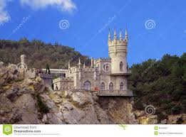 Small Castle by Small Castle On A Cliff Above The Sea Swallow U0027s Nest Stock Photo