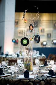 Awards And Decorations Branch by Centerpiece Made With Vinyl Records Centerpieces Pinterest