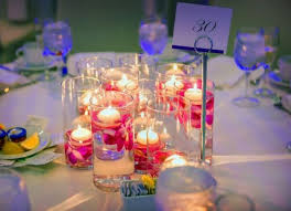 Purple Floating Candles For Centerpieces orchid floating candle centerpiece pink purple fuschia magenta