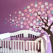 Tree Decal For Nursery Wall by Blowing Cherry Blossom Tree Cute Style