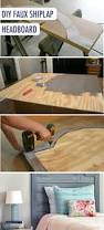 best 25 plywood headboard diy ideas on pinterest padded fabric diy headboard made with faux shiplap panels