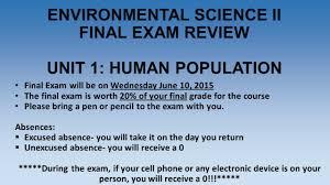 environmental science ii final exam review unit 1 human