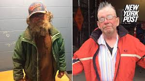 compassionate cops shower shave and shear this homeless man