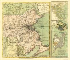 Map Of The New England States by Old Map New England Seat Of Revolutionary War 1775