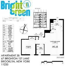 New York Apartments Floor Plans by Bright N Green Apartment 3b U2022 Floor Plan