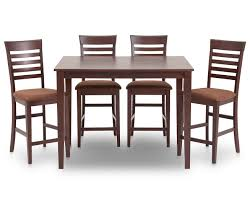 Brown Dining Room Table Chocolat 5 Pc Counter Height Dining Room Set Furniture Row