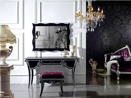 makeup vanity table with lighted mirror decofurnish