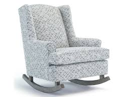 Wingback Rocking Chair Best Home Furnishings Runner Rockers Willow Upholstered Rocking