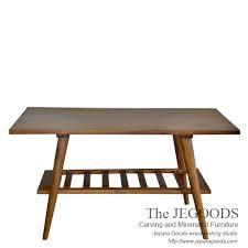 Retro Sofa Table by Jegoods Woodworking Studio Furniture Retro Scandinavia Vintage Jepara