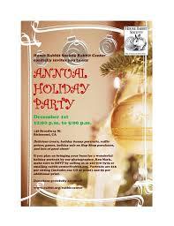 New Office Invitation Card Holiday Party Invitation 1 House Rabbit Society Adoption And