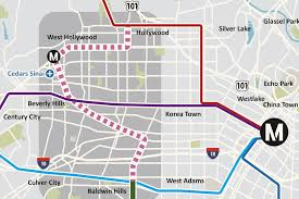 Metro Lines Map by West Hollywood Refusing To Let Metro Rail Pass It By Curbed La