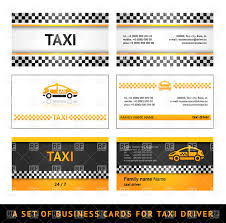 Business Card Eps Template Simple Business Card Templates For Taxi Vector Image 17181
