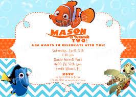 Birthday Invitation Cards Models Finding Nemo Birthday Invitations Blueklip Com