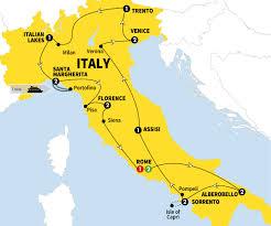 Map Of Italy Regions by Grand Italian Experience Trafalgar