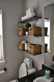Bathroom Shelves Ideas by Small Bathroom Shelving Ideas White Polished Wooden Wall Mount