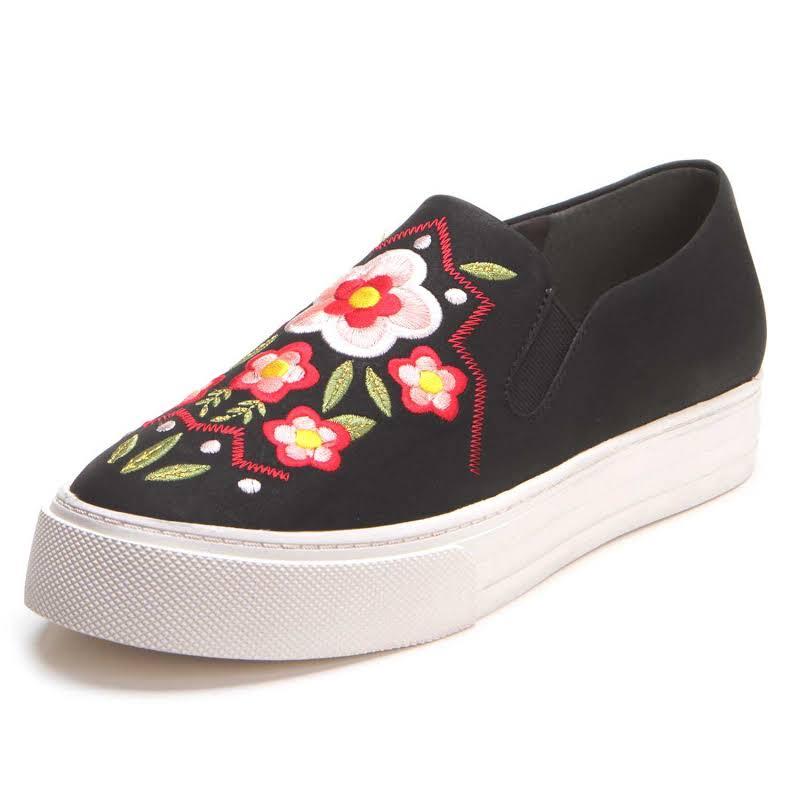 Ariat Ladies Unbridled Paisley Black Suede Floral Shoes 10025274