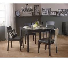 Buy Hygena Square Solid Wood Dining Table   Chairs Black At - Black dining table for 4