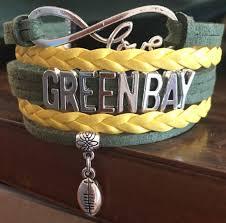pittsburgh steelers infinity love bracelet greenbay packers