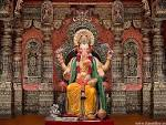 Wallpapers Backgrounds - Lord Ganesha Pandal Wallpaper