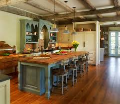 classic nuance of traditional kitchen created on wooden flooring