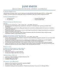 Resume Examples  Career Objective Of Resume Example With Core Competencies In Customer Service And Professional