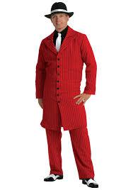 1920 Halloween Costumes Red Gangster Suit Halloween Costume Men U0027s 1920s Zoot Suit Costumes