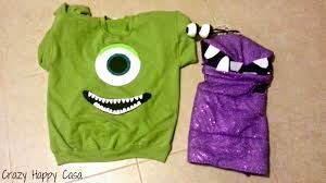 Halloween Costume Monsters Inc Halloween Recap Monsters Inc Diy Family Costumes Crazy Happy Casa