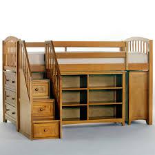 house storage junior loft with stairs pecan designed