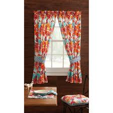 pioneer woman kitchen curtain and valance 2pc set flea market