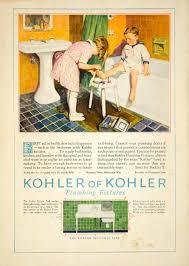 1927 ad vintage bathroom children first aid boy bathtub sink