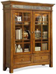Craftsman Home by Riverside Furniture Craftsman Home 2 Glass Door Bookcase With