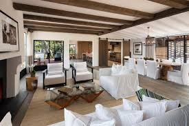 Exposed Beam Ceiling Living Room by Furniture Beach Style Room With Brown Rattan Sofa Feat Grey