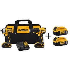 slickdeals home depot black friday dewalt 20v max li ion brushless combo kit 2 pack bt batteries