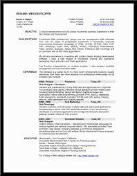 Sample Resume Objectives For Web Developer by Resume Examples 2016 Web Developer Sample Resumes