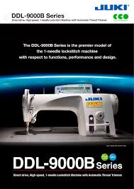 ddl 9000b series juki industrial sewing machine pdf catalogue