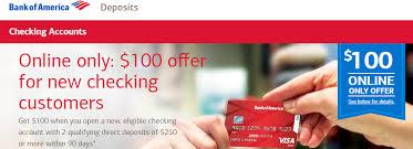 Santander Business Debit Card Bank Of America Promotions 100 150 200 250 300