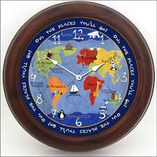 Kids World Map Kids World Map Clock The Big Clock Store