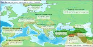 Map Of Western Europe by Maps Of Neolithic Bronze Age U0026 Iron Age Migrations In Europe And