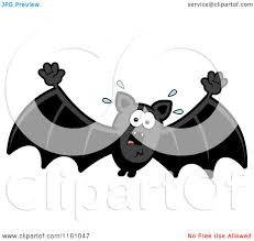 bats images clip art cartoon of a scared vampire bat royalty free vector clipart by