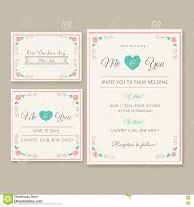 Editable Wedding Invitation Cards Free Wedding Invitation Card Illustration Set Stock Illustration