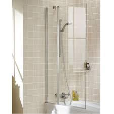 showerlux swing classico 915mm over bath shower screen