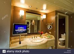 luxurious bathroom with plasma screen tv bellagio hotel las vegas