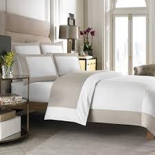 wamsutta hotel micro cotton reversible twin duvet cover in white