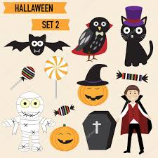 halloween cute background happy halloween background with cute little vampire vector ill