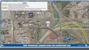 Oklahoma City Map New Interstate Connections For Downtown Okc Open Friday News9