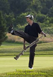 Obama Shoots Skeet (Trick Shot